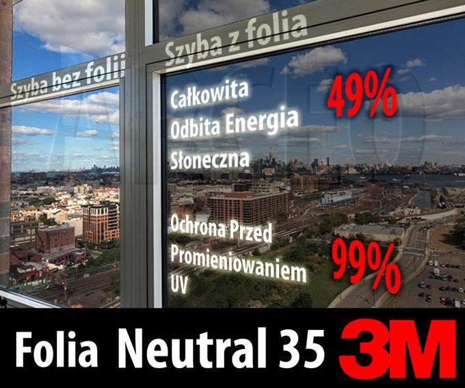 folia przeciwsłoneczna neutral 35 3m