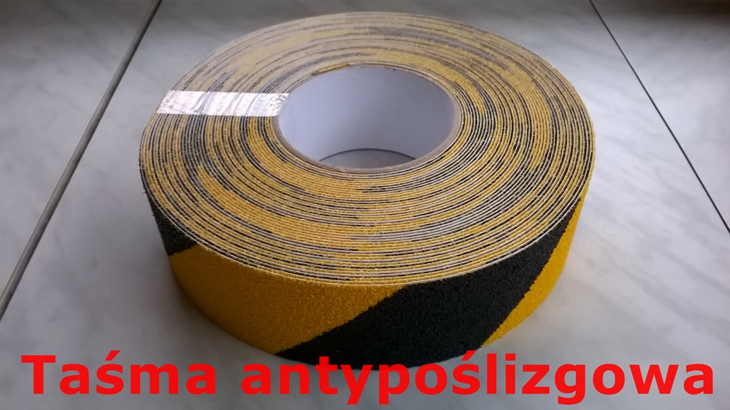 taśma antypoślizgowa żółto-czarna